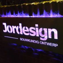 Jordesign logo LED bord